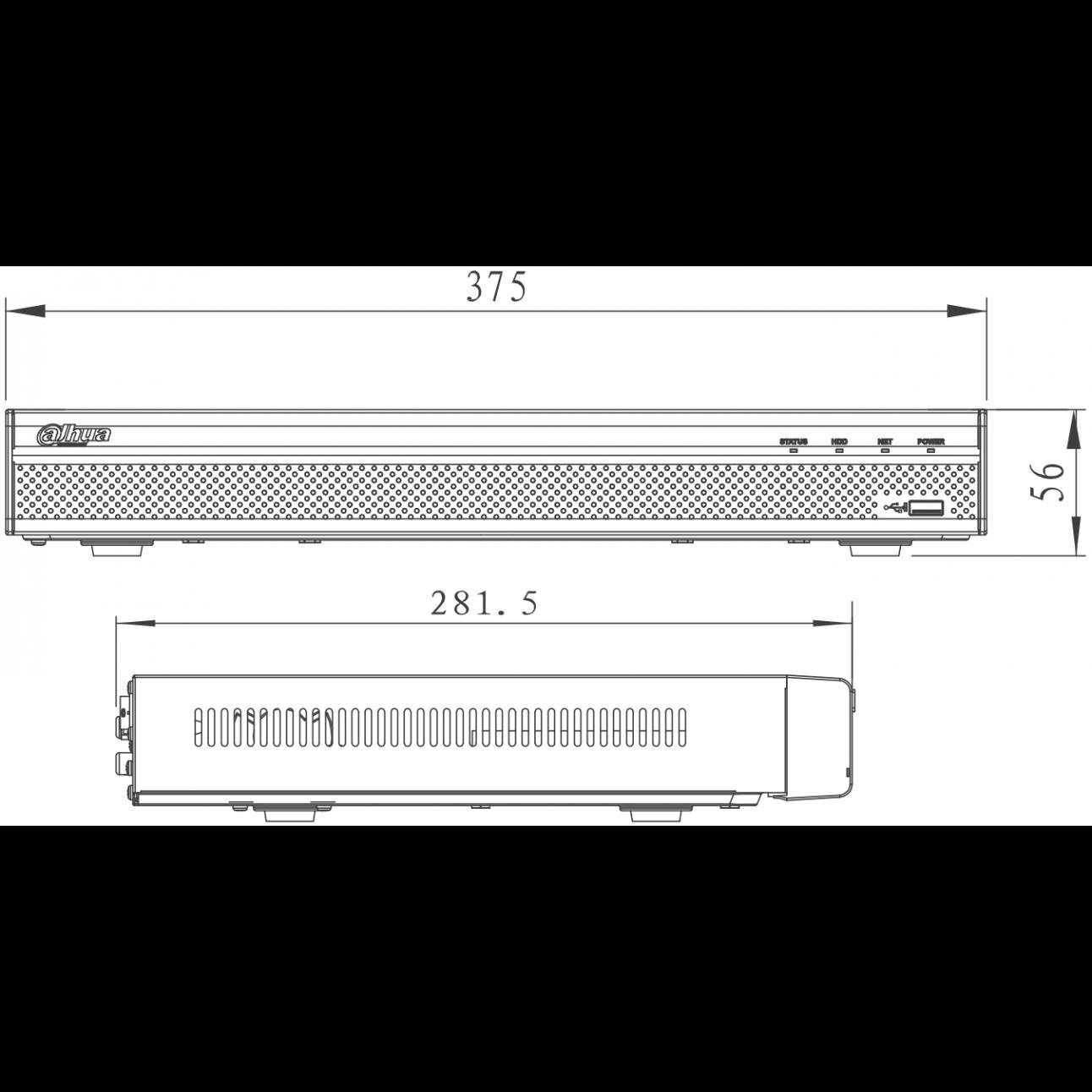 IP Видеорегистратор Dahua DHI-NVR4216-4KS2, 16-канальный, до 8 Мп, 2 HDD, трев. вх. вых. 4/2 (уценка)