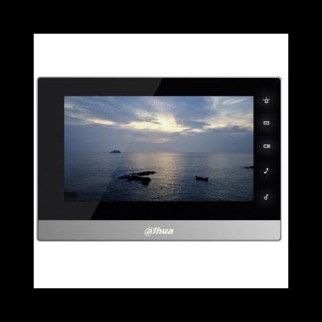 IP монитор для видеодомофона Dahua DHI-VTH1510CH 7 дюймов, 10/100mb, 8 тревожных входов, поддержка PoE, поддержка SD карт (имеет потертости)