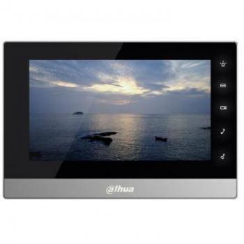 IP монитор для видеодомофона Dahua DHI-VTH1510CH 7 дюймов, 10/100mb, 8 тревожных входов, поддержка PoE, поддержка SD карт.