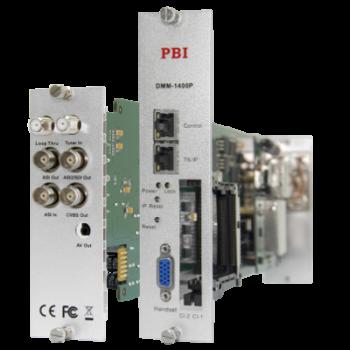 Модуль профессионального IRD приемника PBI DMM-1400P-32IP-T для цифровой ГС PBI DMM-1000