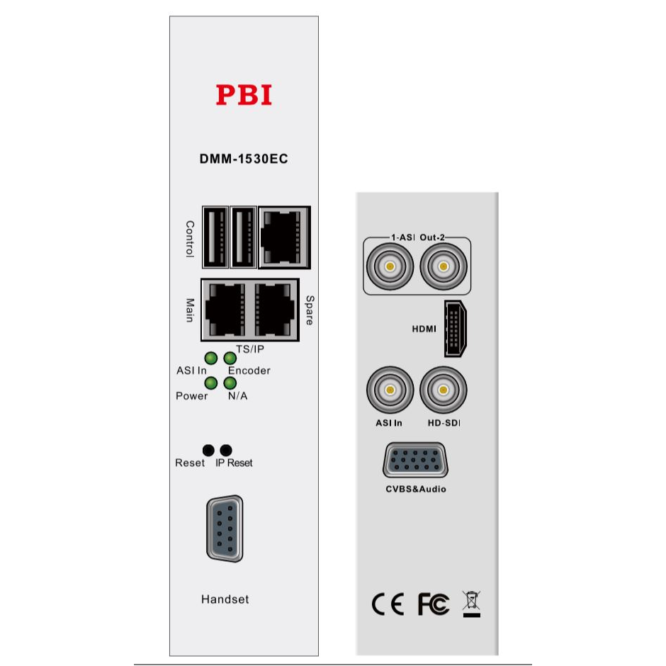 Модуль MPEG4 SD/HD encoder 2 audio PBI DMM-1530EC-32