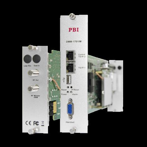 Модуль профессионального IPTV приёмника и двойного аналогового модулятора PBI DMM-1701IM-04 Б/У