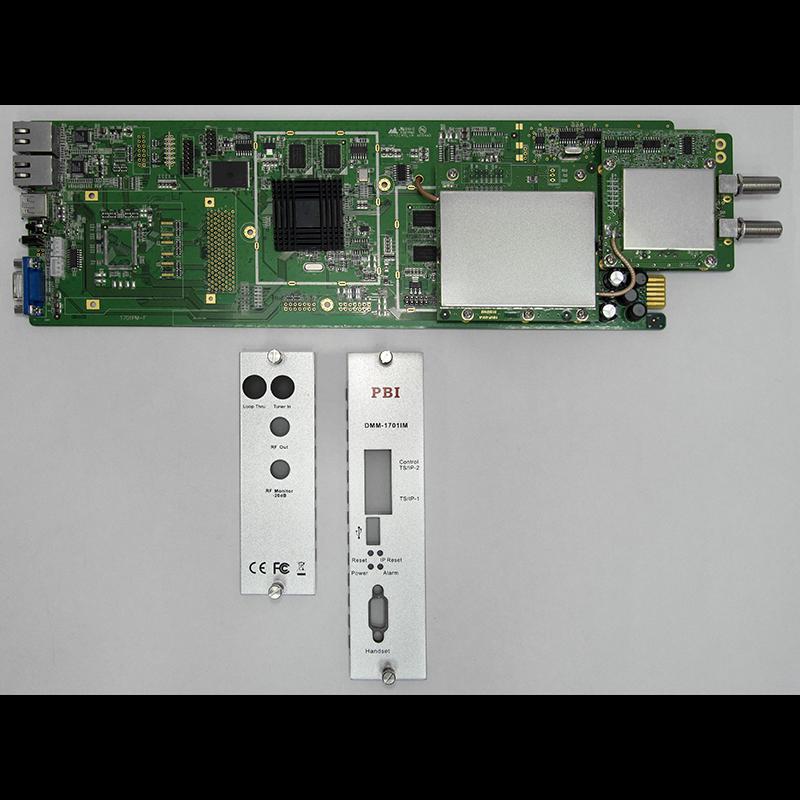 Модуль профессионального IPTV приёмника и двойного аналогового модулятора PBI DMM-1701IM-04