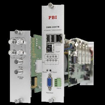 Модуль 4-тюнерного трансмодулятора QAM DMM-2400TM-30S2C на 4 DVB-C для цифровой ГС PBI DMM-1000