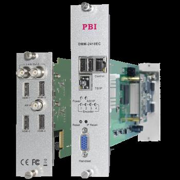 Модуль 4х канального H.264 HD/SD кодера/транскодера PBI DMM-2410EC-H для цифровой ГС PBI DMM-1000