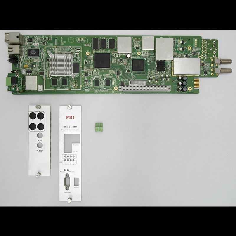 Модуль 4х поточного QAM модулятора PBI DMM-2410TM-30IC для цифровой ГС PBI DMM-1000