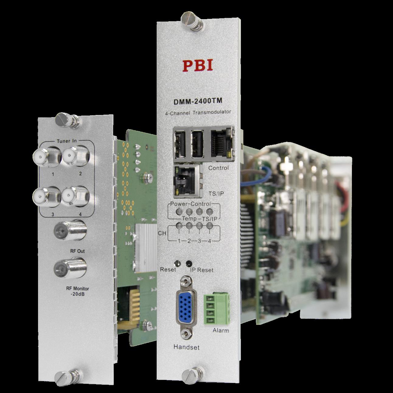 Модуль 4-тюнерного трансмодулятора QAM DMM-2410TM-30S2C на 4 DVB-C для цифровой ГС PBI DMM-1000