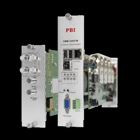 Модуль 4-тюнерного трансмодулятора QAM DMM-2410TM-30T2C (4 PLP DVB-T2  в 4 DVB-C) для цифровой ГС PBI DMM-1000