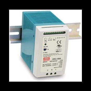 DRC-100A Блок питания c функцией ИБП на DIN-рейку Вых: 13,8В/4,5А; АКБ: 13,8В/2,5А; 100Вт, Mean Well