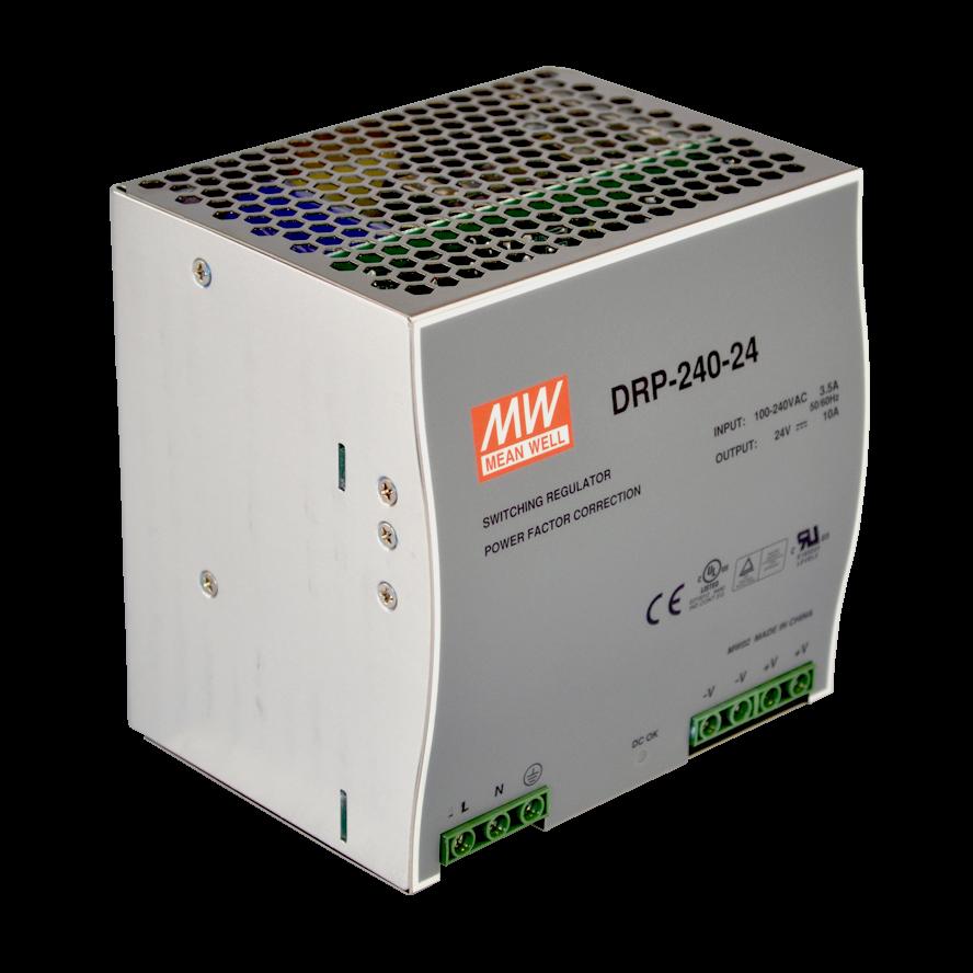 DRP-240-48 Блок питания на DIN-рейку, 48В, 5А, 240Вт Mean Well