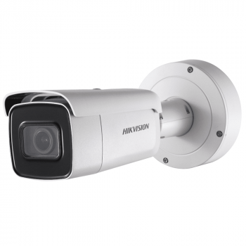 Уличная цилиндрическая IP-камера DS-2CD2643G0-IZS, 4Мп, мотор. объектив 2.8-12мм, 12V/PoE, ИК-подсветка до 50м, microSD до 128Гб, WDR 120дБ
