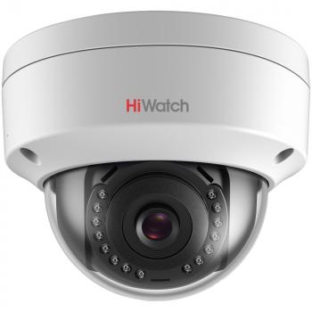 Уличная купольная мини IP-камера DS-I202 (C) (2.8mm), 2Мп, фикс. объектив 2.8мм, ИК до 30м, DWDR, DC12В/PoE, IP67, IK10