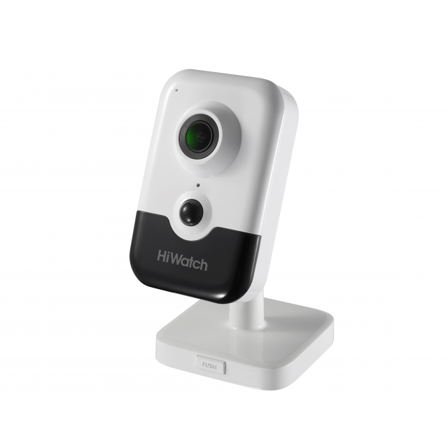 Внутренняя IP-камера DS-I214(B) (2.8mm), 2Мп, 2.8мм, ИК до 10м, DWDR, microSD до 128Гб, DC12В/PoE, встр. микр. и динамик
