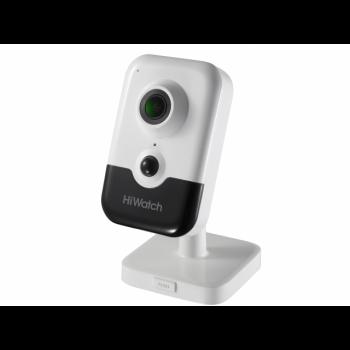 Внутренняя IP-камера DS-I214W(B) (2.8mm), 2Мп, 2.8мм, ИК до 10м, DWDR, microSD до 128Гб, DC12В/PoE, встр. микр. и динамик, Wi-Fi