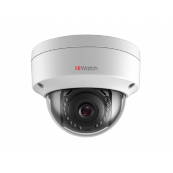 Уличная купольная IP-камера DS-I252 (2.8mm), 2Мп, фикс. объектив 2.8мм, ИК до 30м, DWDR, DC12В/PoE, IP67, IK10