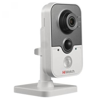 Офисная IP-камера DS-N241, 1Мп, 4мм, 12V/PoE, ИК подсветка до 10м, встроенный динамик и микрофон, с кронштейном.