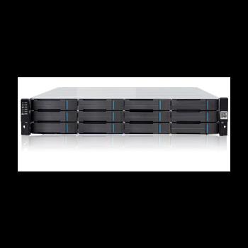 Система хранения данных Infortrend DS1012G-B (до 12xHDD, SAS6G внеш. порт, 1x2GB, 2x10G+4x1G порта iSCSI)