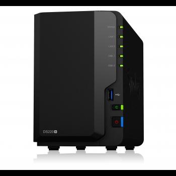 "Сетевое хранилище Synology DiskStation DS220+, 2xHDD 3,5"", 2х1000Base-T, без дисков"
