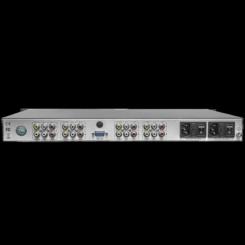 Профессиональный 8ми канальный MPEG-4 кодер PBI DXP-8100EC-82C