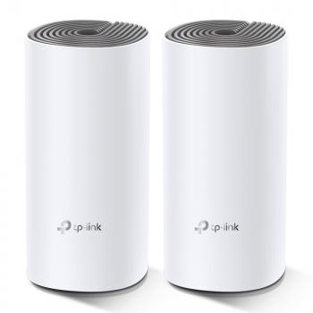 Комплект - Беспроводной маршрутизаитор AC1200 Домашняя Mesh Wi-Fi система Deco E4 (2 устройства)