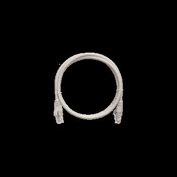 Коммутационный шнур NETLAN U/UTP 4 пары, Кат.5е (Класс D), 100МГц, 2хRJ45/8P8C, заливной, BC (чистая медь), LSZH нг(B)-HF, серый,  1м, уп-ка 10шт.