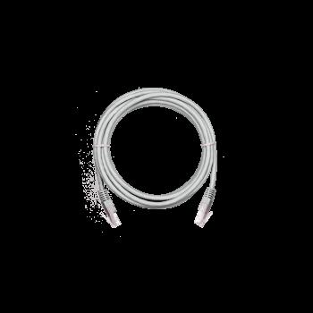Коммутационный шнур NETLAN U/UTP 4 пары,Кат.5е (Класс D),100МГц, 2хRJ45/8P8C, T568B, заливной, BC (чистая медь), PVC нг(B),серый, 0,3м, уп 10шт