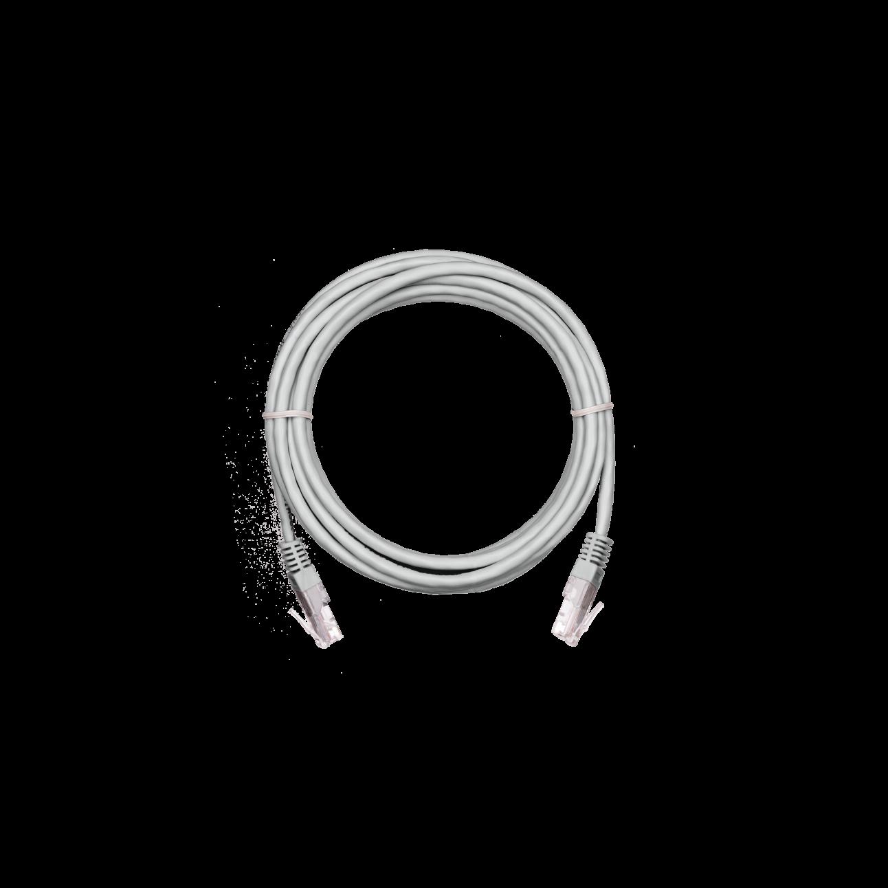 Коммутационный шнур NETLAN U/UTP 4 пары,Кат.5е (Класс D),100МГц, 2хRJ45/8P8C, T568B, заливной, BC (чистая медь), PVC нг(B),серый, 5м, уп 10шт