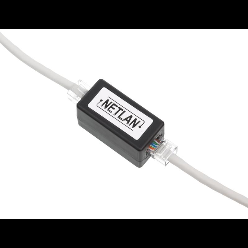 Кабельный соединитель NETLAN RJ45-RJ45 (8P8C), Кат.5e (Класс D), 100МГц, неэкранированный, черный, уп-ка 10шт.