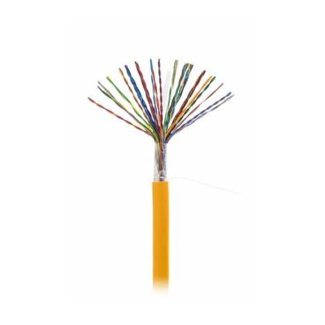 Кабель NETLAN U/UTP 25 пар, Кат.5 (Класс D), 100МГц, одножильный, BC (чистая медь), внутренний, LSZH нг(B)-HF, оранжевый, 305м