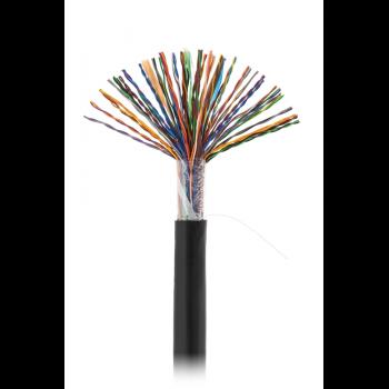 Кабель NETLAN U/UTP 50 пар, Кат.5 (Класс D), 100МГц, одножильный, BC (чистая медь), внешний, PE до -40C, черный, 305м