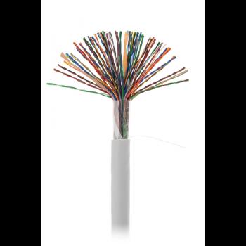 Кабель NETLAN U/UTP 50 пар, Кат.5 (Класс D), 100МГц, одножильный, BC (чистая медь), внутренний, PVC нг(B), серый, 305м