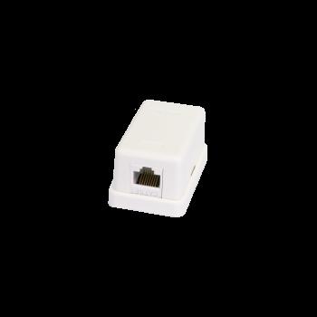 Настенная розетка NETLAN, 1 порт, Кат.5e (Класс D), 100МГц, RJ45/8P8C, 110, T568A/B, неэкранированная, белая, уп-ка 10шт.