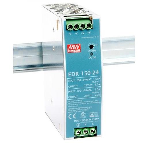 EDR-150-24 Блок питания на DIN-рейку, 24В, 6,5 А, 156Вт Mean Well