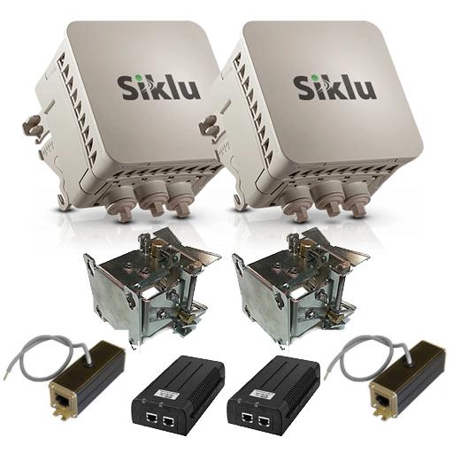 РРЛ Siklu EH-600T производительность 500 Мбит/с (расширение до 1 Гбит/с), дистанция до 500 метров (комплект)