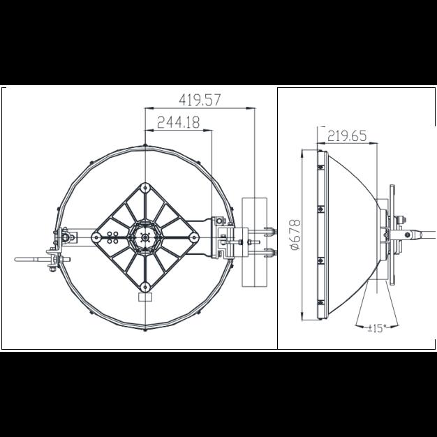 Антенна Siklu EtherHaul 2 ft. 70/80&5 ГГц