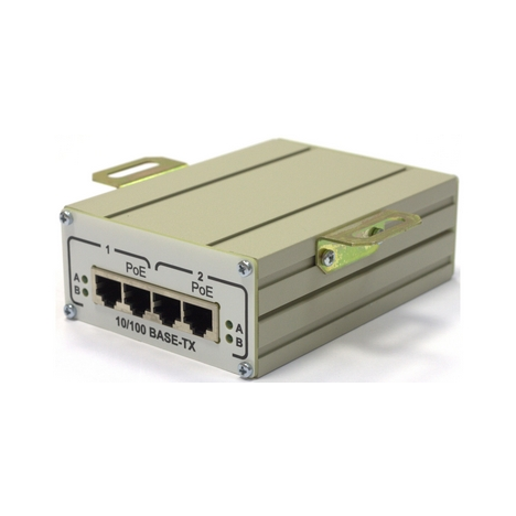 2-портовый инжектор РоЕ 802.3af FSE-2C для питания двух термокожухов TFortis TH