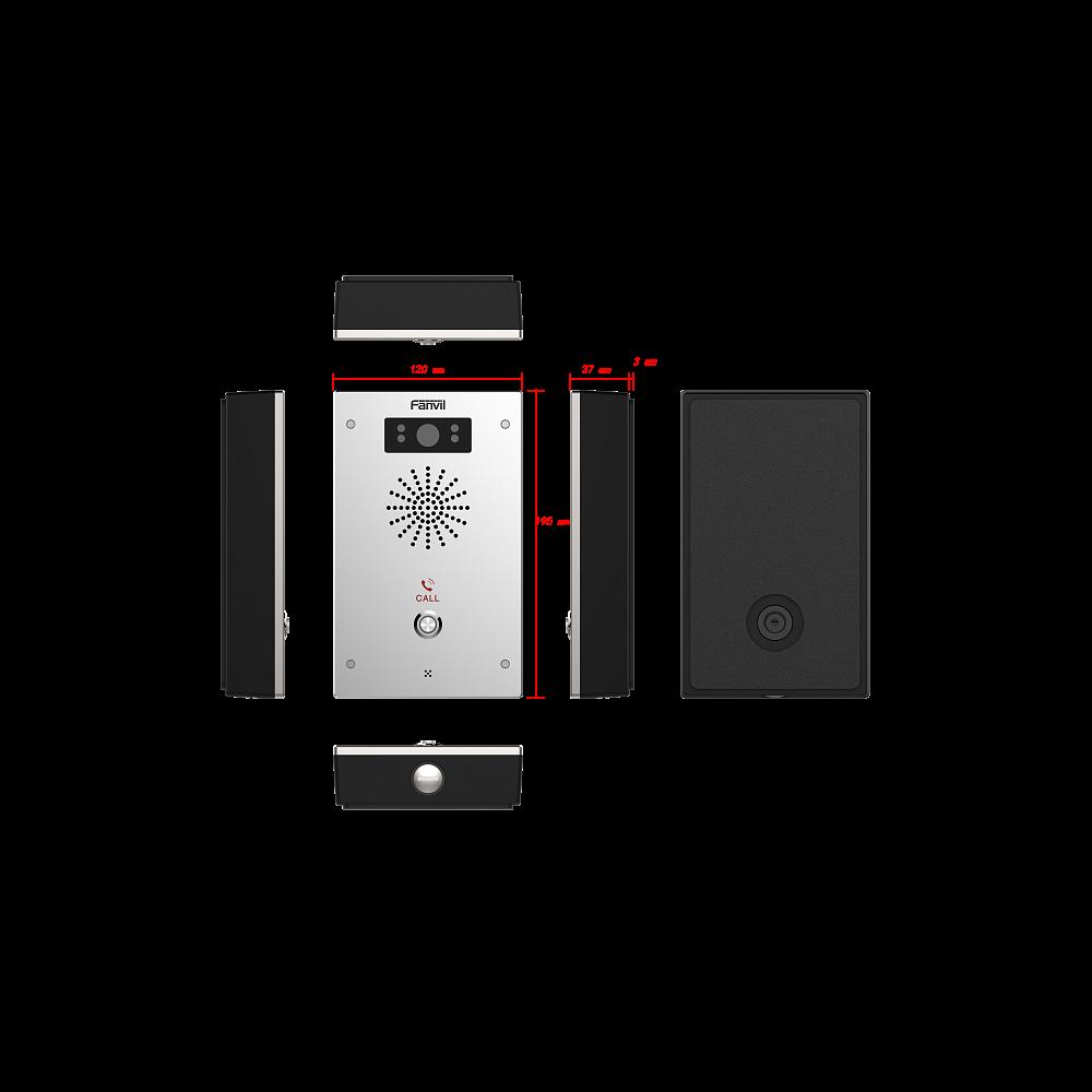 Fanvil i16V домофон, накладной, внешний, HD камера, IP65, IK10