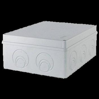 Коробка распределительная для наружного монтажа 240х195х90мм, с кабельными вводами (6шт)