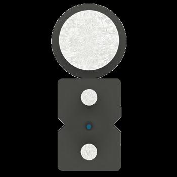 Кабель оптический SM1 FTTx, 1 волокно, для наружной и внутренней укладки, с дополнительным несущим элементом, усиленный (FRP 1.8 мм) бухта 1км