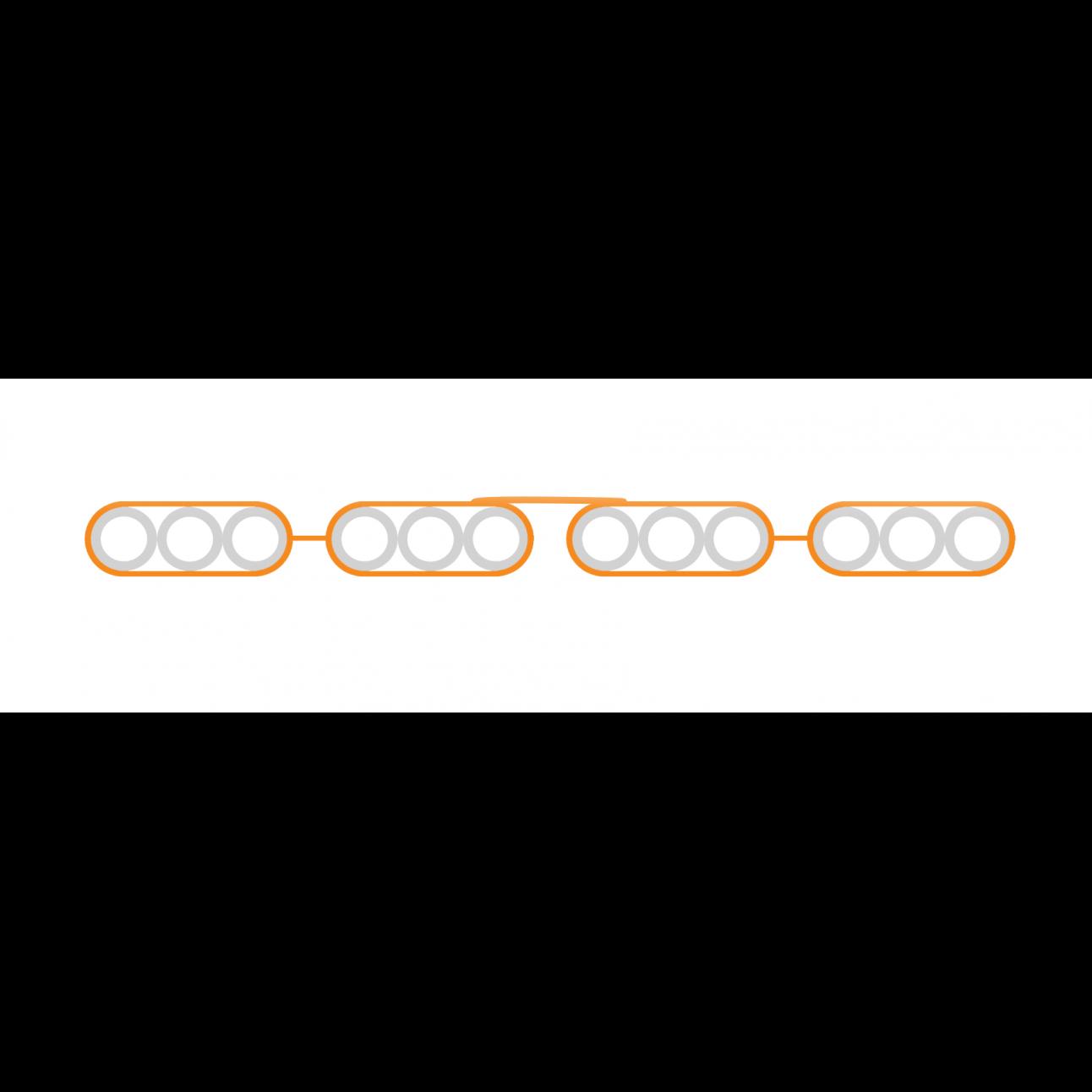 Пакет микротрубок 12х16/12 мм Flatliner (м)