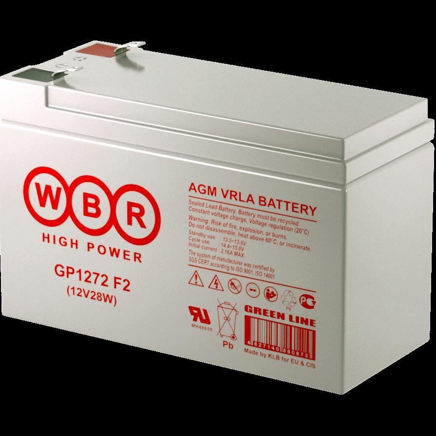Батарея аккумуляторная WBR GP1272 F2 (12V28W)