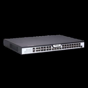 OLT BDCOM GP3600-16B с 16 портами GPON (SFP), 4 комбо-портами, 4хSFP, 4 SFP+, 2 БП АC