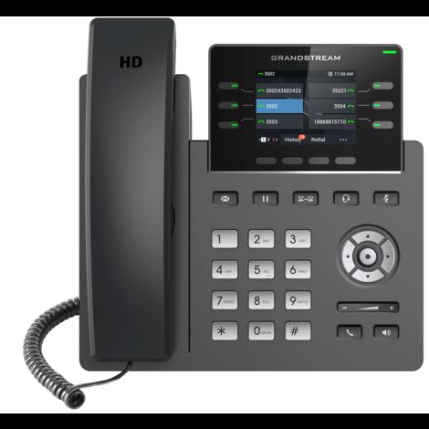 Grandstream GRP2613 - IP телефон. 3 SIP аккаунта, 6 линий, цветной LCD, PoE, (1GbE)Gigabit Ethernet