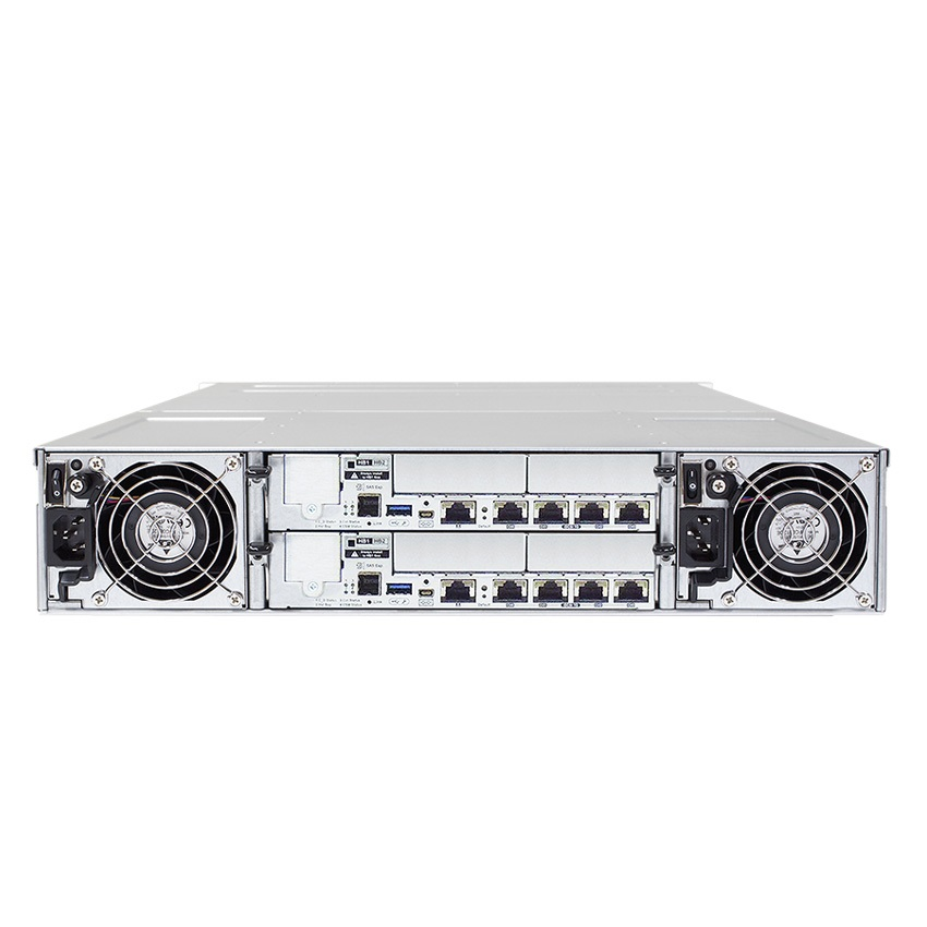 Система хранения данных Infortrend GS2024RCBF-D (2xCtrl, до 24xHDD, 2xSAS12G внеш. порт, 4x4GB, 8x1G портов iSCSI)
