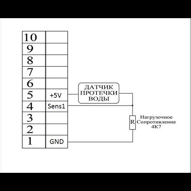 Датчик протечки воды ГИДРОЛОК WSP, аналоговый, 3м