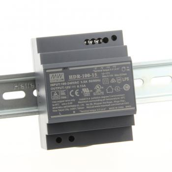 HDR-100-15 Блок питания на DIN-рейку, 15В, 6,13А, 92Вт Mean Well