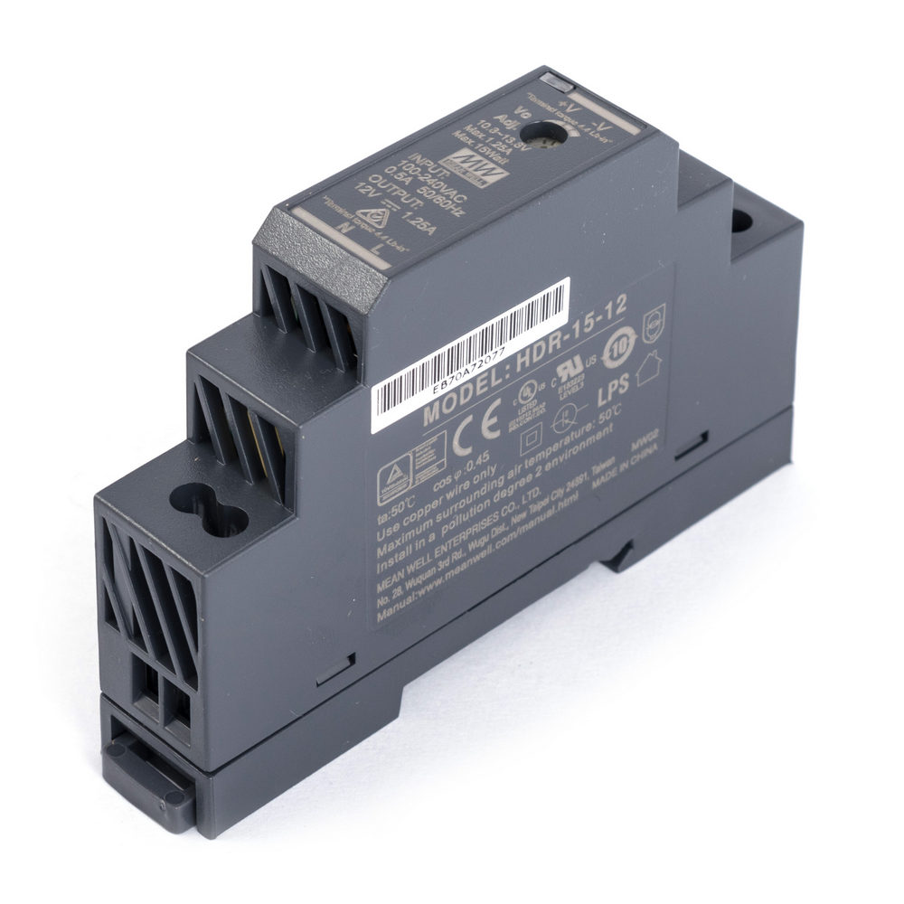 HDR-15-15 Блок питания на DIN-рейку, 15В, 1А, 15Вт Mean Well