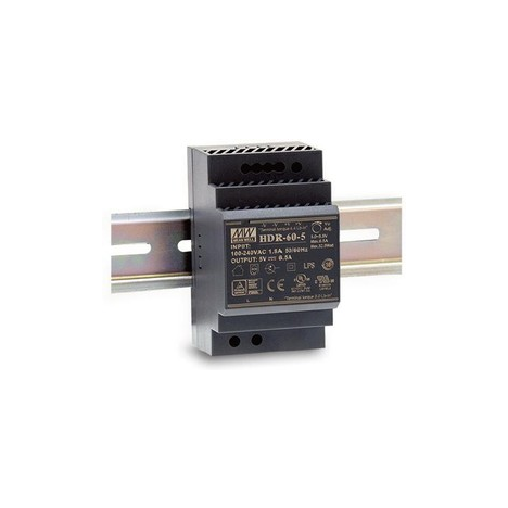 HDR-60-15 Блок питания на DIN-рейку, 15В, 4А, 60Вт Mean Well