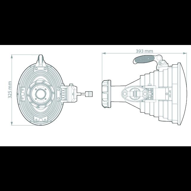 Ассимметричная лучевая антенна RF elements HG3-TP-A20-30 5GHz 20.5dBi
