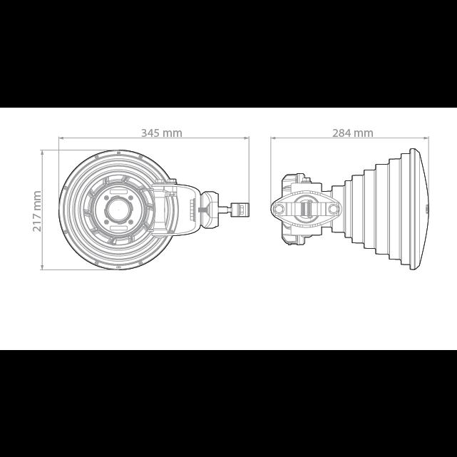 Симметричная рупорная антенна RF elements HG3-TP-S30 5GHz 18dBi